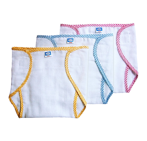Baby Velcro Nappies (3 Pieces Set)